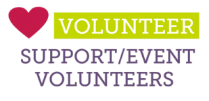 support and event volunteers
